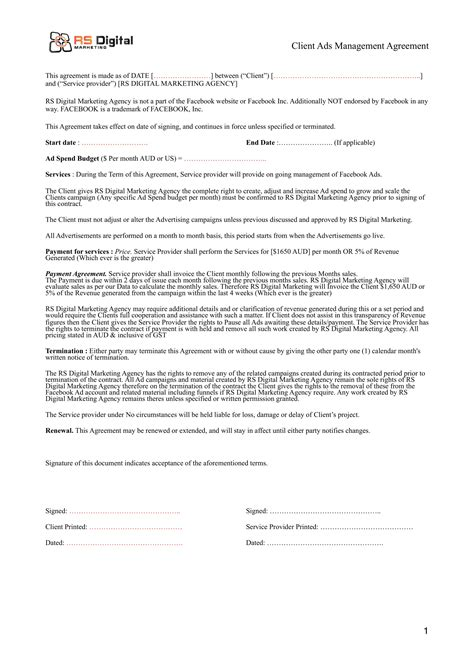 13 Marketing Agreement Templates And Exles Pdf Digital Marketing Services Agreement Template