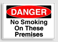 printable no smoking on premises sign sinages page 4 health safety environment