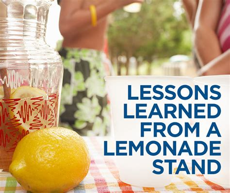 8 financial lessons you can learn from running a lemonade