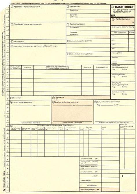 Rechnung Verlangen Englisch Datei Kvo Frachtbrief F 252 R Den G 252 Terfernverkehr Jpg
