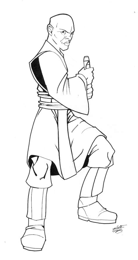 Mace Windu Coloring Pages how to draw mace windu
