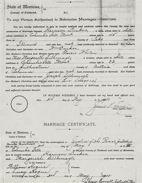 Brown County Marriage Records Flathead Genealogy Flathead Valley Genealogical Society