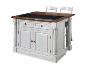 stools for kitchen islands home styles monarch granite top kitchen island with two