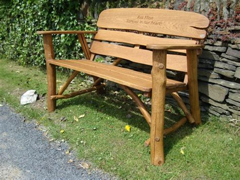 rustic garden bench memorial benches rustic oak bench 1200