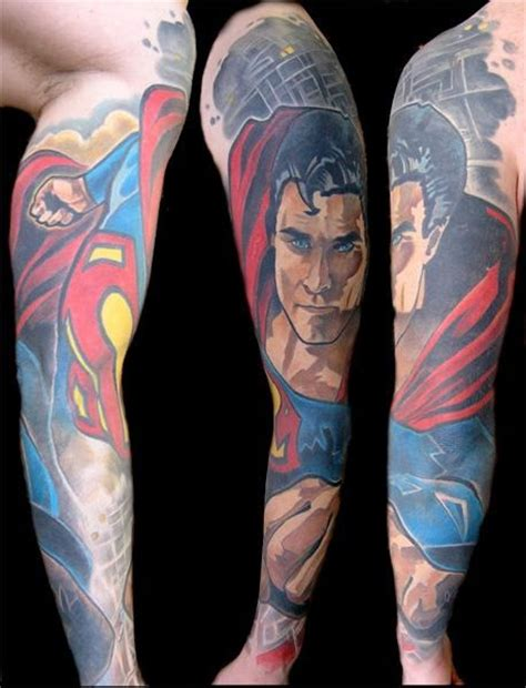 comic book sleeve tattoo designs cool comic book tattoos part 2
