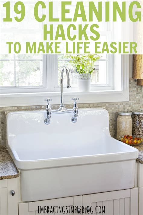 25 cleaning hacks that will make your life easier diy 19 cleaning hacks to make your life easier embracing simple