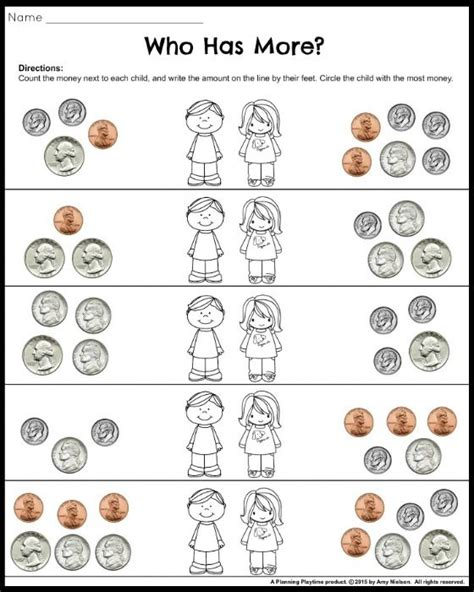 Money Worksheets For Grade by Money Worksheets For 2nd Grade Coins Value Of Coins And