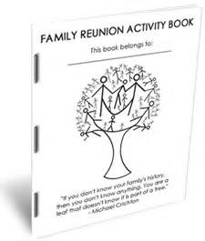 family reunion booklet sle e books to help with family reunion planning