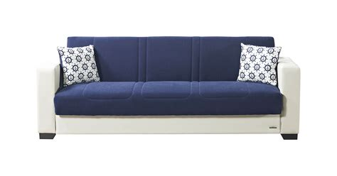 Blue Sofa Beds Relaxon Carisma Navy Blue Sofa Bed By Mobista