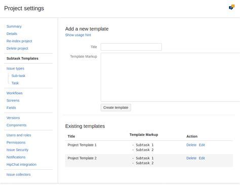 Hascode Jira Quick Subtasks Wiki Home Bitbucket Jira Project Management Template