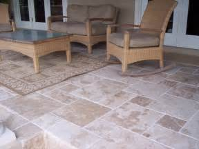 blend travertine tiles traditional patio ta