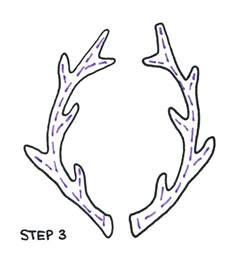 Scribble Outline by How To Draw Antler Laurels In 4 Easy Steps Lindsaybraman