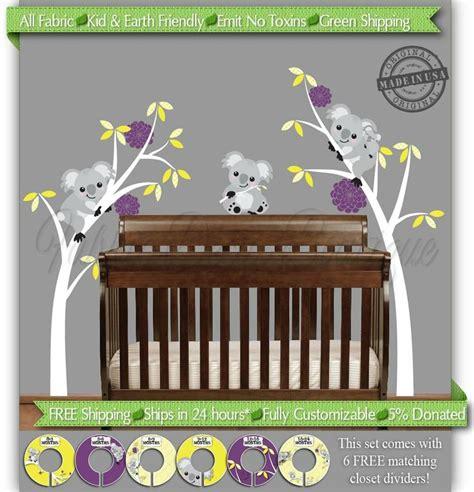 Koala Baby Crib Koala Wall Decal Koala Nursery Decor By Fabricdecalboutique 115 00 Baby Nelson 2