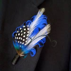 royal blue boutonniere groom s boutonniere royal blue on black by theheadbandshoppe