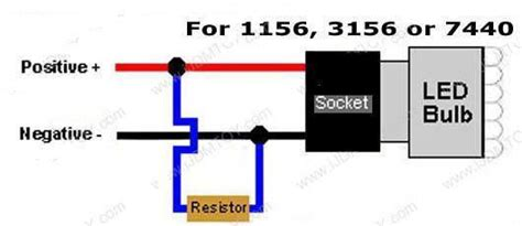 load resistor diagram 2x 50w 6ohm load resistor for led turn signals canadian cruiser customizing