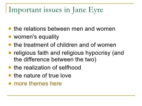 jane eyre analysis of nature themes jane eyre lecture