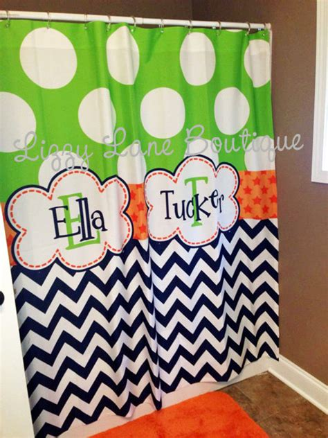 personalized shower curtains for kids custom personalized monogrammed shower curtain free shipping