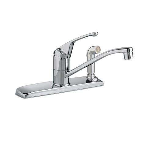 American Standard Faucet Kitchen American Standard Colony Single Handle Standard Kitchen Faucet With Side Sprayer In Polished