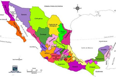 the map of mexico states chapter 5 mexico and central america