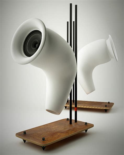 designer speakers speakers made from recycled paper yanko design