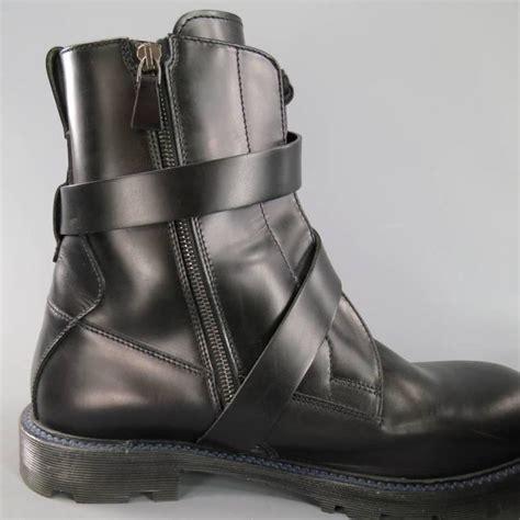 Black Leather Wrap Around by Jil Sander Size 11 Black Leather Velcro Wrap Around