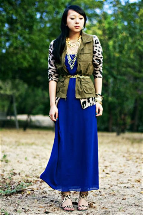 Blue Army Maxi Dress blue maxi forever 21 dresses army green navy