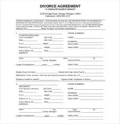 divorce settlement agreement template 10 divorce agreement templates free sle exle