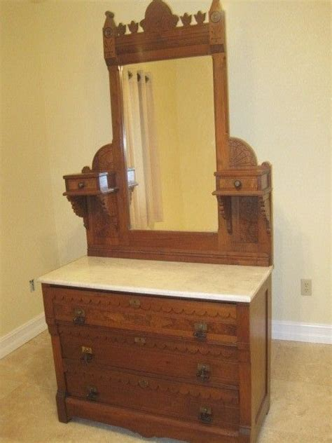 dresser top mirror antique eastlake dresser with mirror and marble top