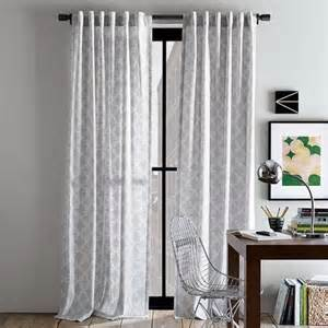 Light Gray Curtains Light Gray Patterned Curtains For The Home
