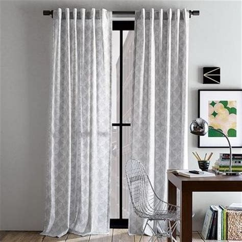 White Curtains With Gray Pattern Light Gray Patterned Curtains Patterned Curtains Pinterest