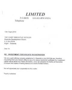 Certification Letter Of Full Payment Business Procedures In Rwanda