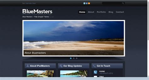 drupal themes bluemasters bluemasters a great theme for a small business or a