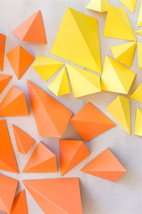 How To Make Paper Geometric Shapes - diy geometric paper backdrop green wedding shoes