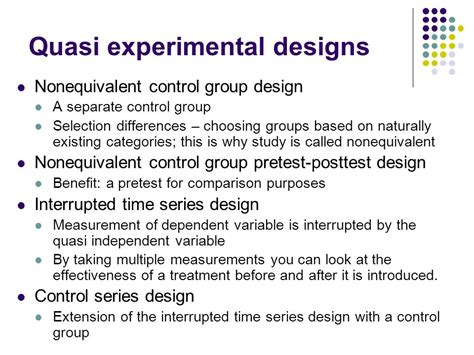 experimental group design quasi experimental and single case experimental designs