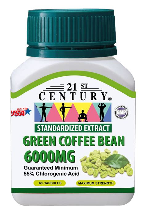 Info Green Coffee green coffee bean extract 6 000mg 60 capsules freeze