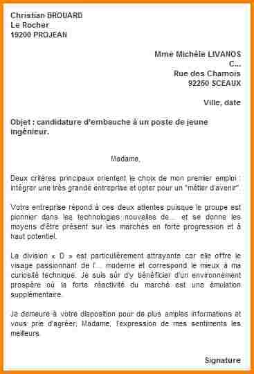 Lettre De Motivation De Webmaster 11 Lettre Motivation Candidature Spontan 233 E Modele Lettre