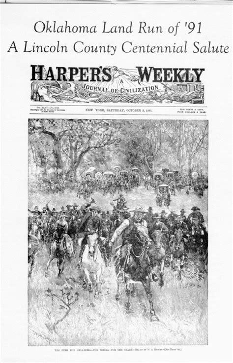 Lincoln County Oklahoma Records Lincoln County Oklahoma Land Run Of 1891