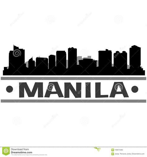 layout artist hiring manila manila skyline city icon vector art design stock vector