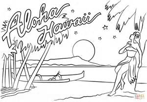 hawaii coloring pages aloha hawaii coloring page free printable coloring pages