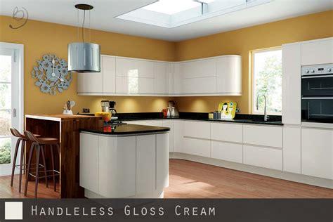 handleless kitchen cabinets handleless kitchen doors high gloss cream