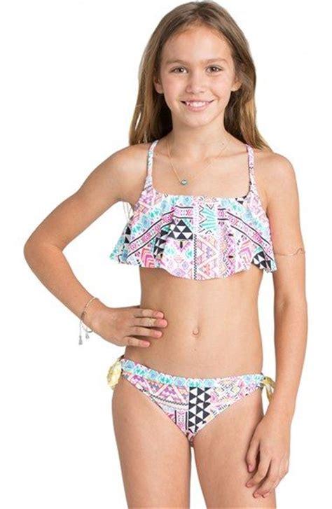 young little girls bikinis billabong mystical madness two piece flounce swimsuit