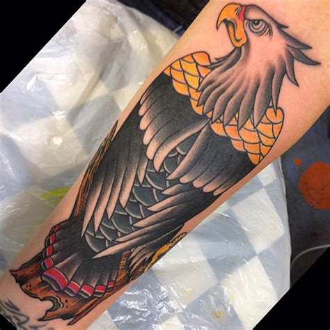 eagle forearm tattoo eagle on forearm