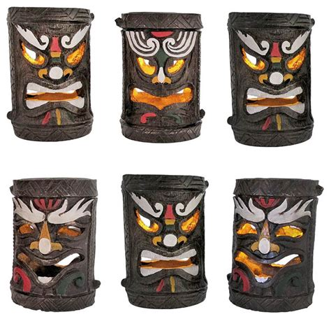 Set Of 6 Colorful Friki Tiki Solar Accent Lights Friki Tiki Solar Lights