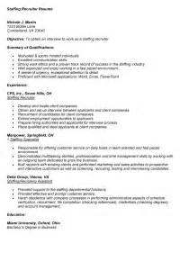 resume exle 57 recruiter resume sle sle
