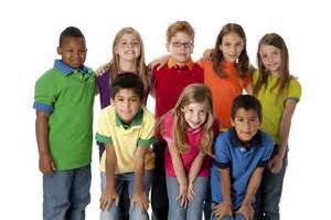 Group of late primary school age children Children