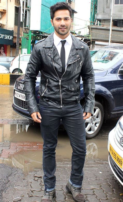 varun dhawan new style dresses varun dhawan looked smart and stylish in black leather