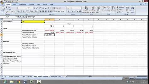 mis 3300 excel case study tutorial 3 youtube