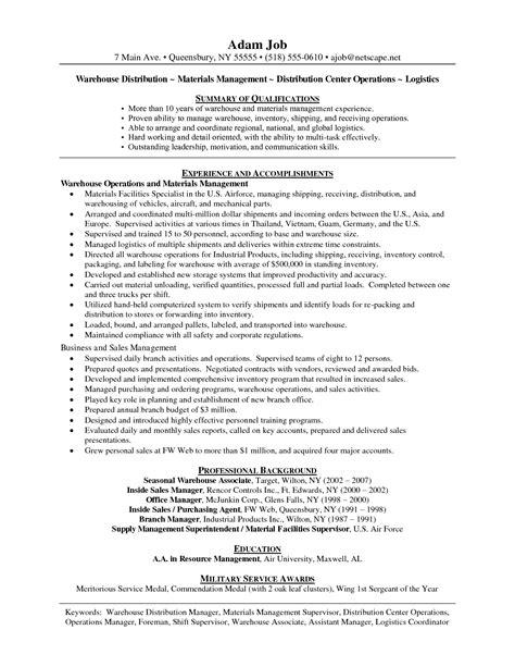 Warehouse Job Resume Sample – Warehouse Work Resume   Template Design