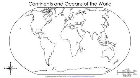 image of blank world map best photos of blank continent map to label printable