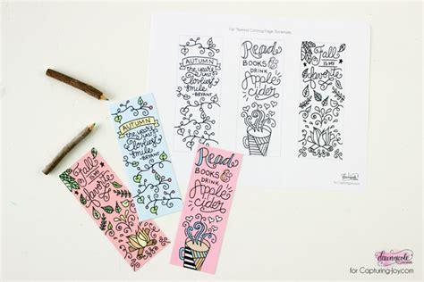 winter bookmarks coloring page fall coloring page free printable fall bookmarks for